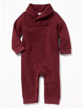 Shawl Collar Sweater Fleece One Piece For Baby by Old Navy