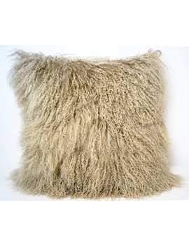 Trophy Room Stuff Tibetan Lamb Fur Throw Pillow & Reviews by Trophy Room Stuff