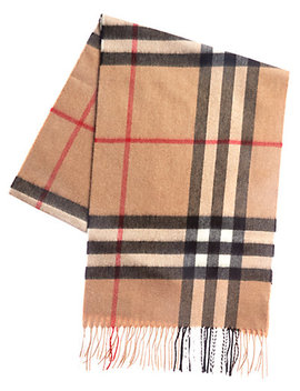 Burberry Classic Check Cashmere Scarf by Burberry