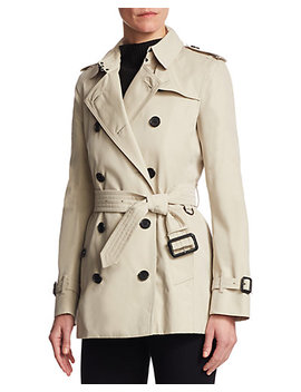 Burberry Kensington Short Heritage Trench Coat by Burberry