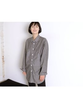 Pocketed Grey Work Shirt by Etsy