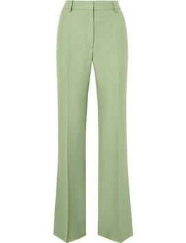 Silk Blend Crepe Straight Leg Pants by Valentino