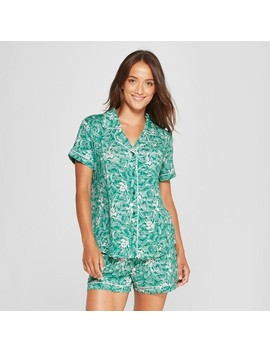Women's Total Comfort Notch Collar Pajama Set   Gilligan & O'malley™ Green by Gilligan & O'malley™