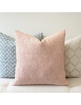 Orange Coral Confetti Polka Dots Decorative Throw Pillow Cover by Etsy