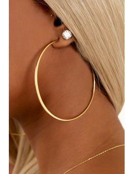 Flat Hoop   Gold by Sorella