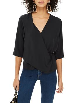 Dina Drape Panel Blouse by Topshop