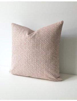 Blush Pink And White Modern Pebble Dots Print Decorative Pillow Cover by Etsy