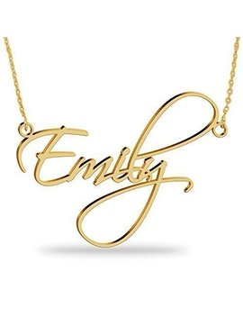 18 K Gold Plated Name Necklace Personalized Sterling Silver Necklace Pendent Gifts Custom With Any Name by Amazon