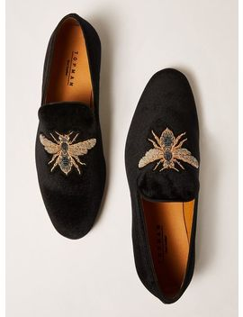 Black Velvet Tucker Badge Loafers by Topman