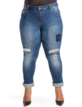 Shaw Curvy Fit Boyfriend Jeans by Poetic Justice