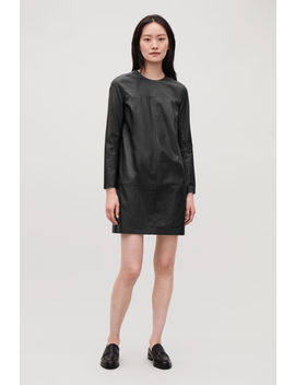 Long Sleeved Leather Dress by Cos