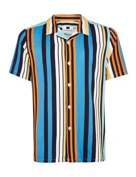 Blue Multi Stripe Short Sleeve Shirt by Topman