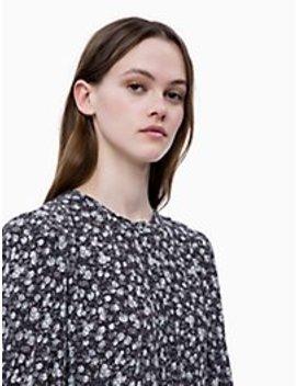 Floral Long Sleeve Maxi Dress by Calvin Klein