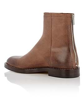 Leather Back Zip Boots by Maison Margiela
