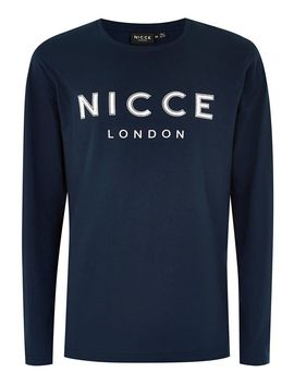 Nicce Navy 'core' T Shirt by Topman