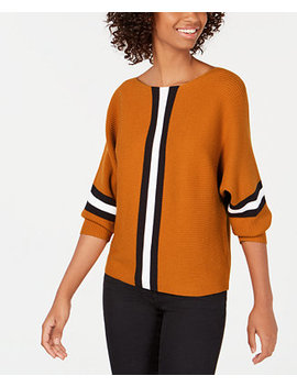 Juniors' Ribbed Striped Sweater by Say What?