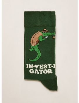 Green Investigator Socks by Topman