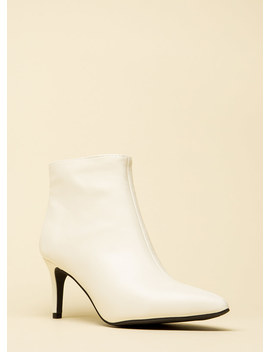 This Point Forward Faux Leather Booties by Go Jane