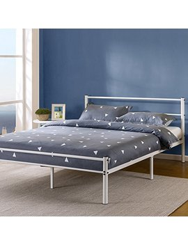 Zinus 12 Inch White Metal Platform Bed Frame With Headboard And Footboard, Twin by Zinus