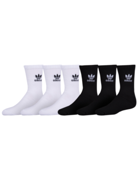 Adidas Originals Trefoil 6 Pack Crew Socks by Foot Locker