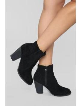 Note To Self Bootie   Black by Fashion Nova