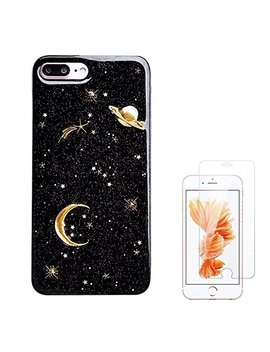 Liquid Case For I Phone 6/6 Plus/I Phone 7/7 Plus/I Phone 8/8 Plus/I Phone X/10 Luxury Bling Glitter Sparkle Stars Transparent Plastic Case by Shellstyle