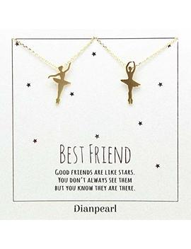 Ballerina Necklace,Ballerina Dancer Ballet Dance Pendant Necklace, Best Friend Necklace For 2 Girls, Bff Necklace, Friendship Necklace For 2, Silver Dainty Necklace, Christmas Gift by Amazon