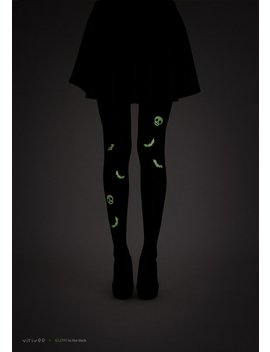 Glow In The Dark Bats Tights / Halloween Tights / Goth Tights by Etsy