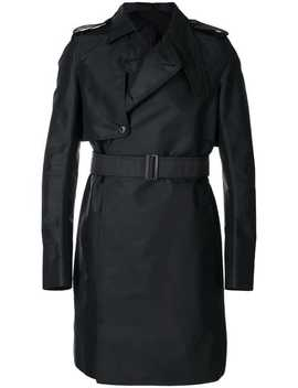 Rick Owensasymmetric Trench Coat Home Men Rick Owens Clothing Trench Coats & Macs by Rick Owens