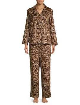 Two Piece Printed Cotton Pyjama Set by Lauren Ralph Lauren