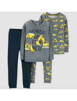 Toddler Boys' 4pc Construction Pajama Set   Just One You™ Made By Carter's® Gray by Just One You Made By Carter's