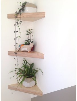 Baltic Birch Plywood Corner Shelf by Etsy