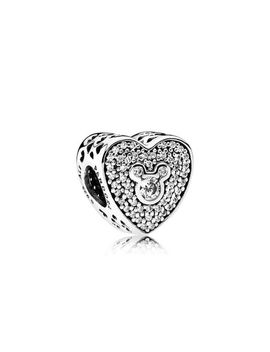 Disney, Mickey & Minnie Sparkling Heart Sterling Silver, Cubic Zirconia by Pandora