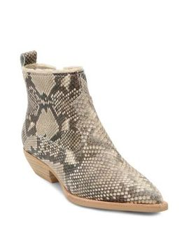 Unity Snake Print Leather Booties by Dolce Vita