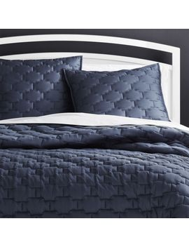 Palazzo Blue Quilt King by Crate&Barrel
