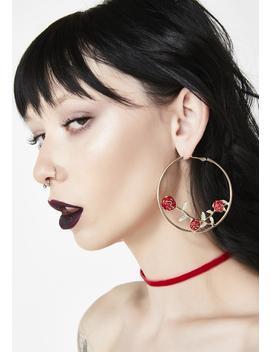 In Full Bloom Hoop Earrings by Ciel