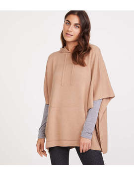 Lou & Grey Hooded Poncho Sweater by Loft