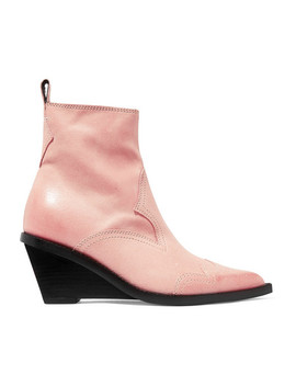 Nubuck Wedge Ankle Boots by Mm6 Maison Margiela