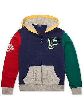 Big Boys Colorblocked Cotton French Terry Hoodie by Polo Ralph Lauren