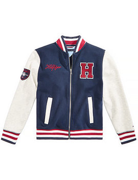 Big Boys Baseball Varsity Jacket by Tommy Hilfiger