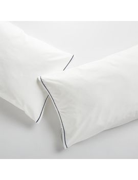 haven-standard-blue-percale-pillowcases,-set-of-2 by crate&barrel