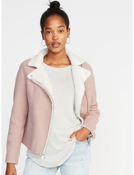 Sherpa Moto Jacket For Women by Old Navy