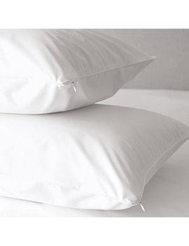 O Sleep 400 Thread Count White Cotton Hypoallergenic Pillow Protector (Set Of 2) by O Sleep By O.Com