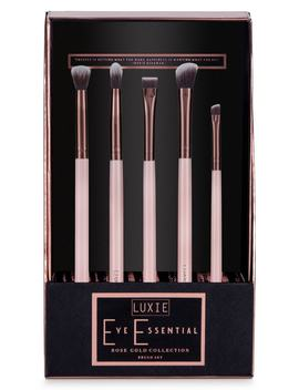 Rose Gold Eye Essential Brush Set by Luxie