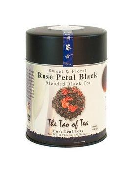 The Tao Of Tea, Rose Petal Black Tea, Loose Leaf Tea, 4 Oz Tin by The Tao Of Tea