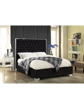 Meridian Furniture Inc Lexi Velvet Platform Bed by Meridian Furniture Inc