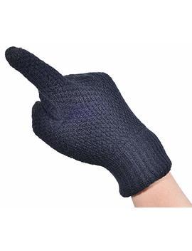 Woogwin Womens Winter Touchscreen Gloves Mens Wool Knit Fleece Lined Warm Gloves by Woogwin
