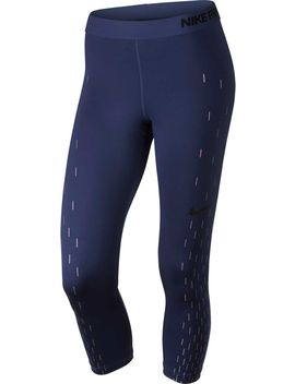 Nike Women's Pro Linear Rain Printed Capris by Nike