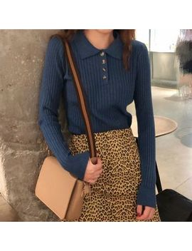 Monroll   Polo Knit Pullover by Monroll