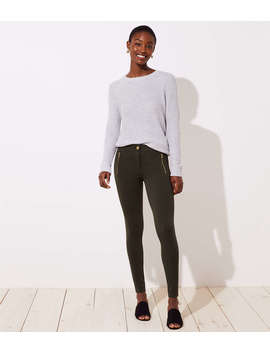 Petite Leggings In Zip Pocket Ponte by Loft